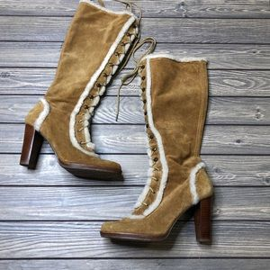 Calvin Klein Paula Suede Boots with Fur